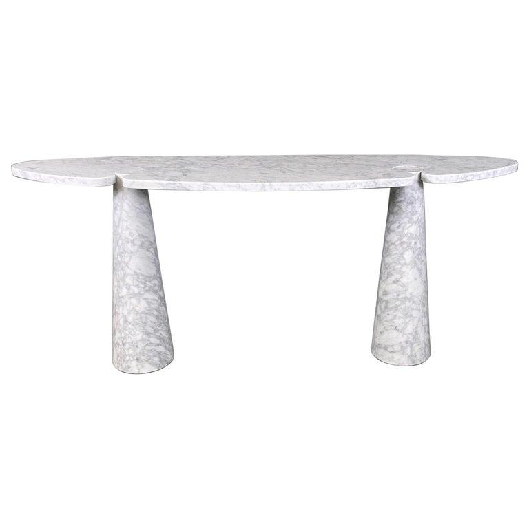 Angelo Mangiarotti Console Table Eros Carrara Marble