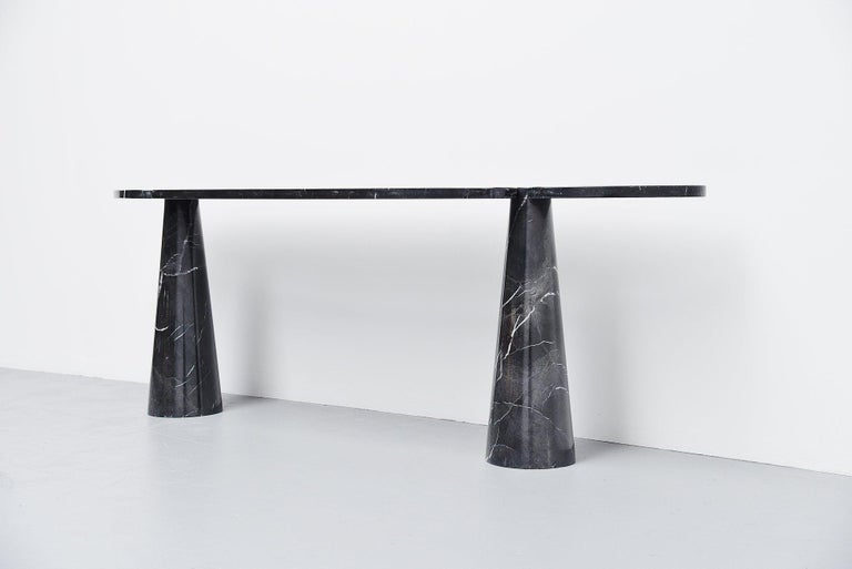 Mid-Century Modern Angelo Mangiarotti Console Table Skipper, Italy, 1971 For Sale