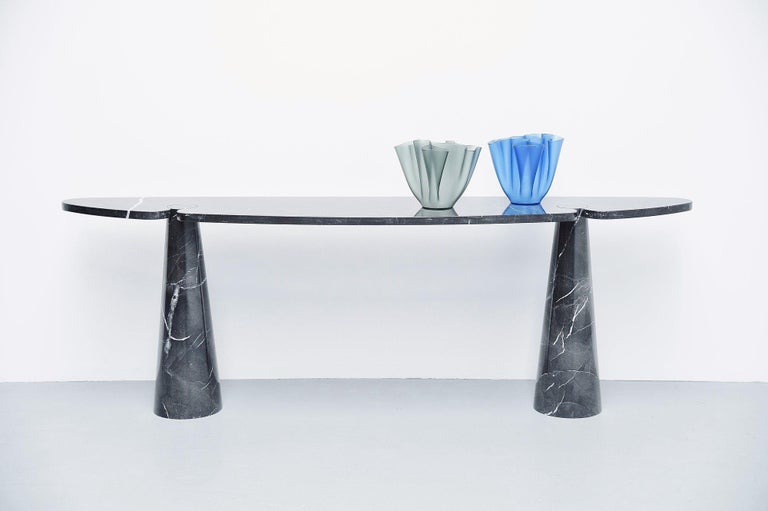 Late 20th Century Angelo Mangiarotti Console Table Skipper, Italy, 1971 For Sale