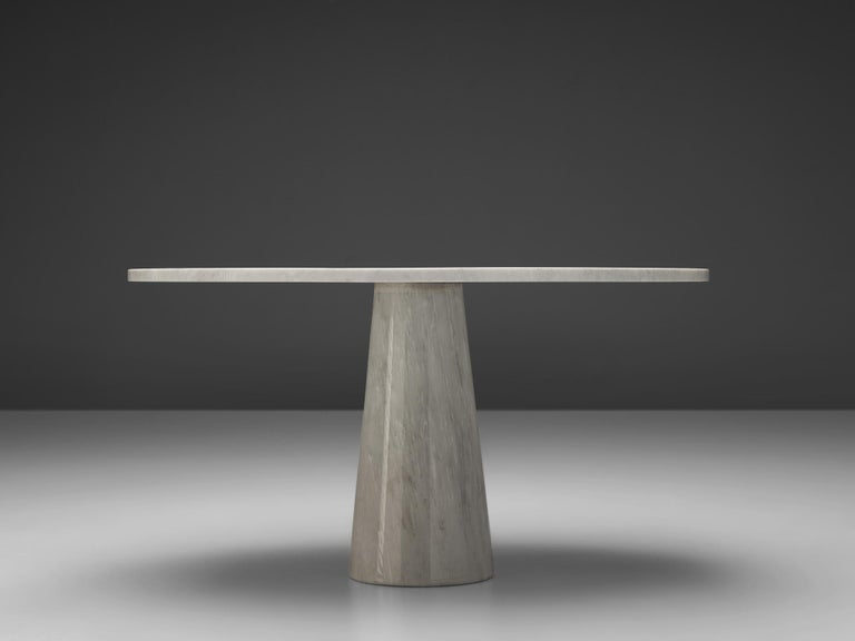 Post-Modern Angelo Mangiarotti Dining Table 'Eros' in Marble For Sale