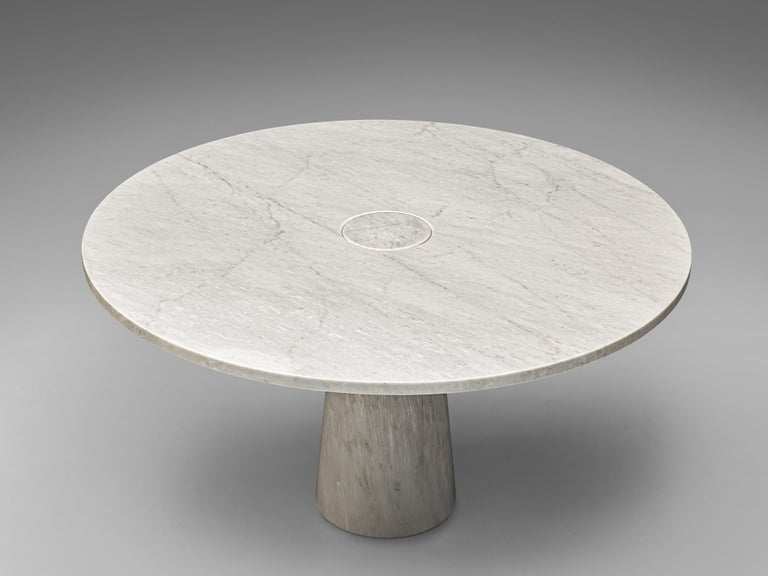 Italian Angelo Mangiarotti Dining Table 'Eros' in Marble For Sale