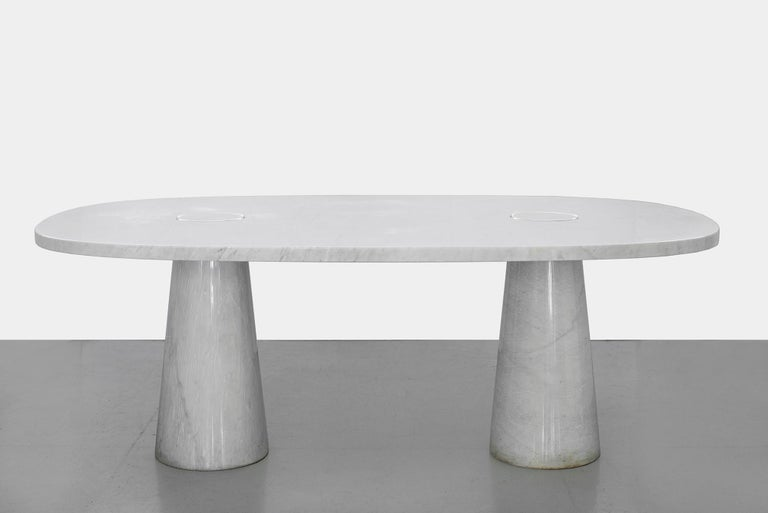 Late 20th Century Angelo Mangiarotti Dining Table For Sale