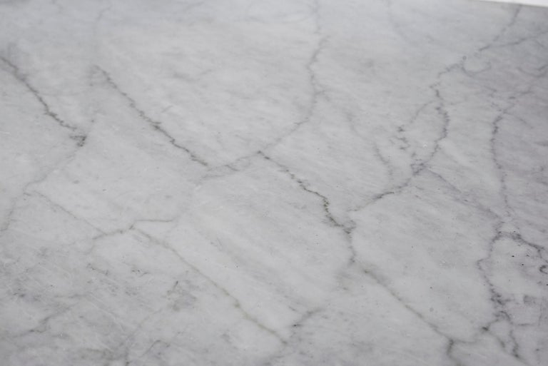 Carrara Marble Angelo Mangiarotti Dining Table For Sale