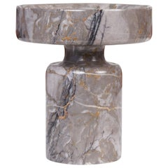 Angelo Mangiarotti Double Sided Marble Vase for Knoll
