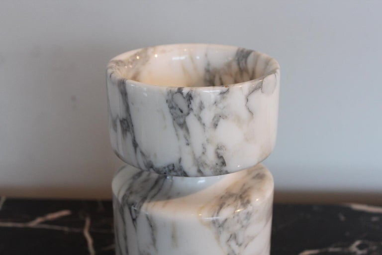 Angelo Mangiarotti Double Sided Marble Vase For Sale 3