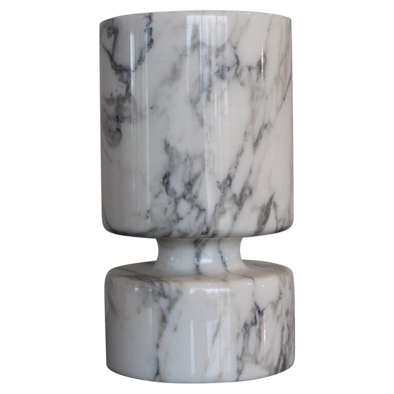 Angelo Mangiarotti Double Sided Marble Vase For Sale