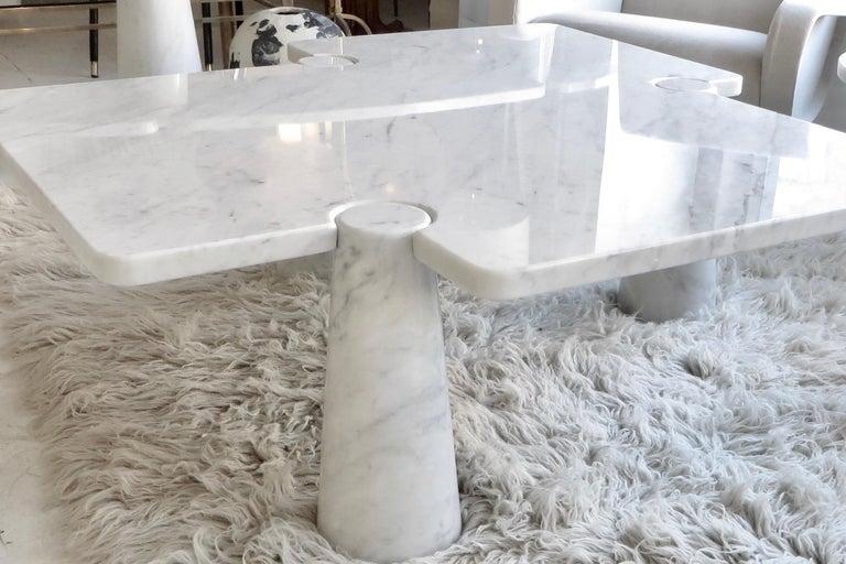 Angelo Mangiarotti Eros Collection Freccia White Carrara Marble Coffee Table For Sale 10