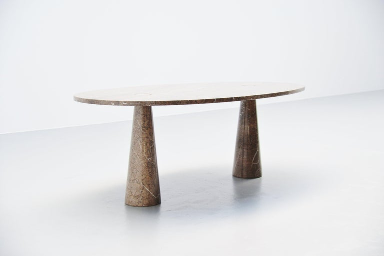 Italian Angelo Mangiarotti Eros Dining Table Mondragone Skipper, 1971 For Sale