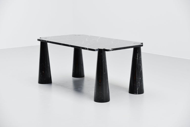 Mid-Century Modern Angelo Mangiarotti Eros Dining Table Skipper, Italy, 1971 For Sale