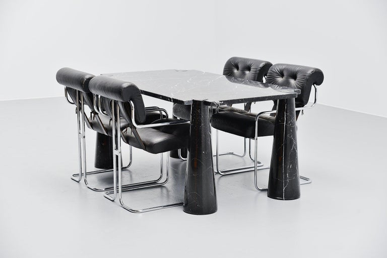 Angelo Mangiarotti Eros Dining Table Skipper, Italy, 1971 For Sale 1