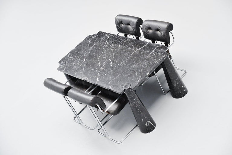 Angelo Mangiarotti Eros Dining Table Skipper, Italy, 1971 For Sale 2