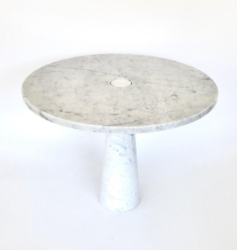 Italian Angelo Mangiarotti Eros for Skipper Carrara Marble Dining or Centre Table For Sale