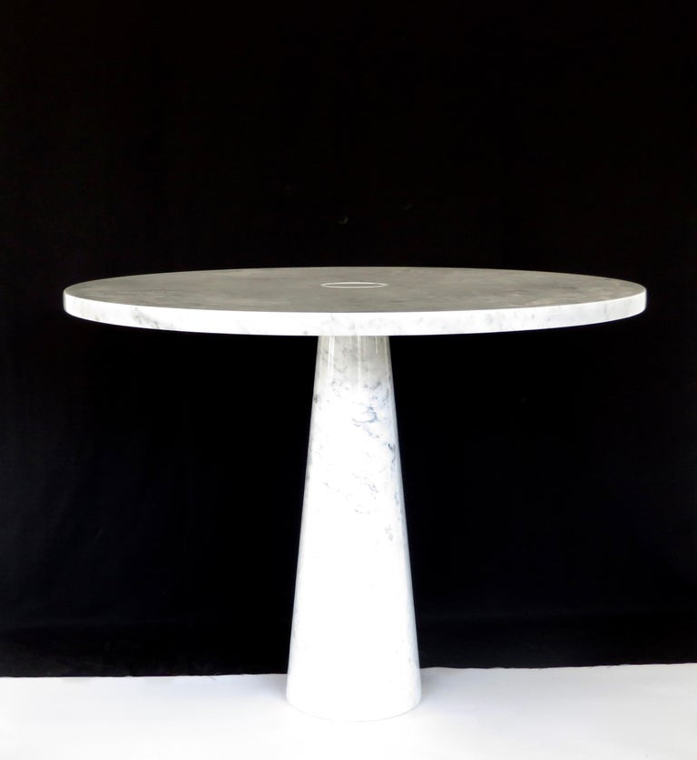 Angelo Mangiarotti Eros for Skipper Carrara Marble Dining or Centre Table For Sale 1