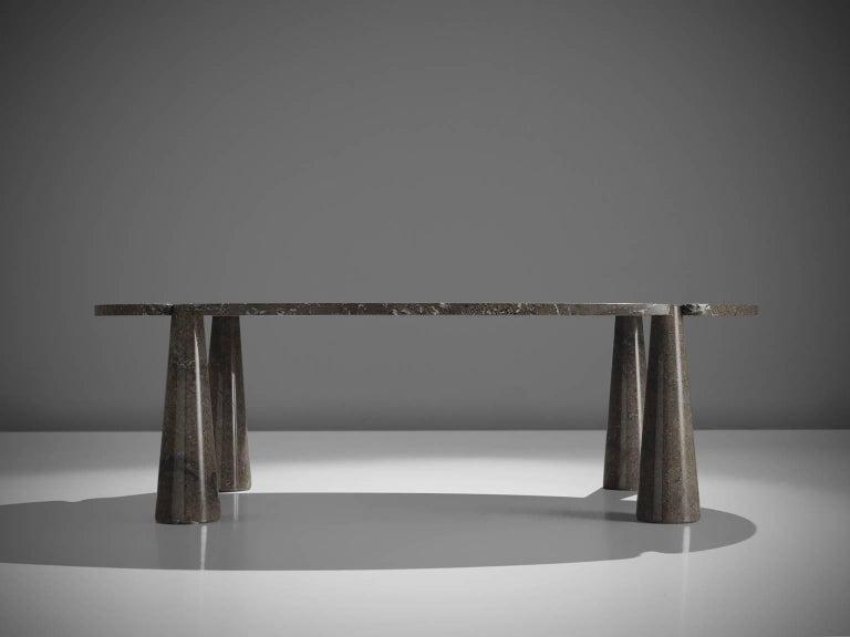 Italian Angelo Mangiarotti Eros Marble Dining Table For Sale