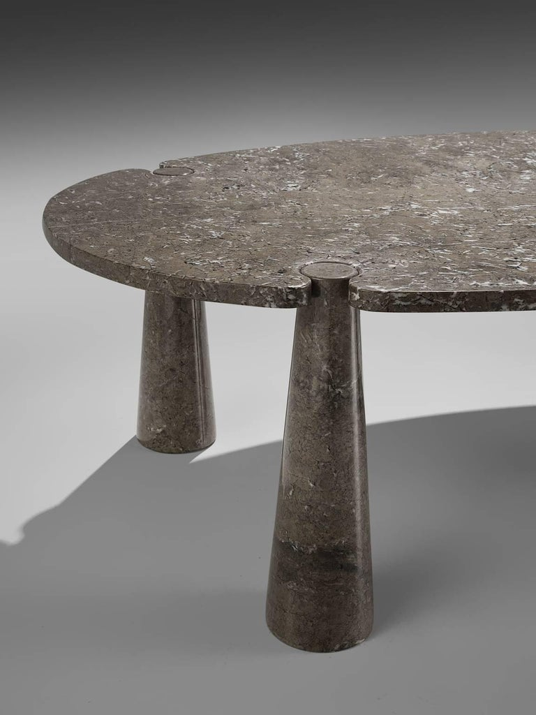 Angelo Mangiarotti Eros Marble Dining Table In Excellent Condition For Sale In Waalwijk, NL