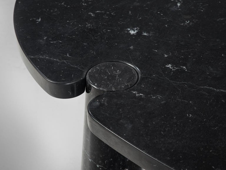 Angelo Mangiarotti Eros Marble Dining Table in Black Marble In Good Condition In Waalwijk, NL
