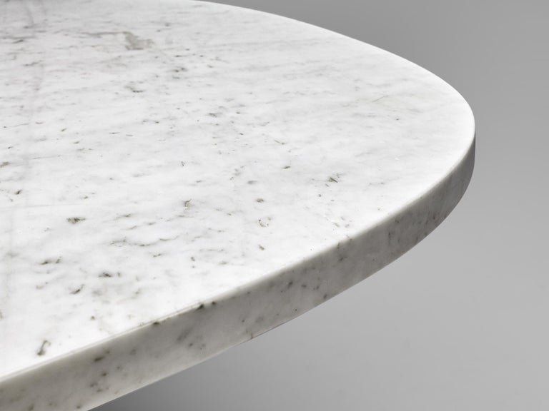 Angelo Mangiarotti 'Eros' Oval Dining Table in White Marble For Sale 2