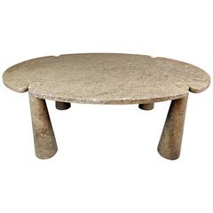 Angelo Mangiarotti 'Eros' Oval Mondragone Marble Dining Table