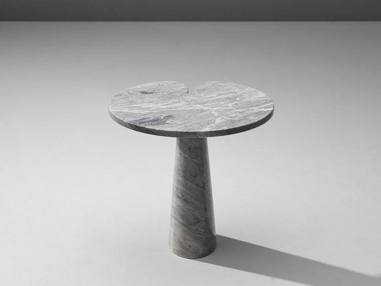 Italian Angelo Mangiarotti 'Eros' Side Table in Carrara Marble For Sale