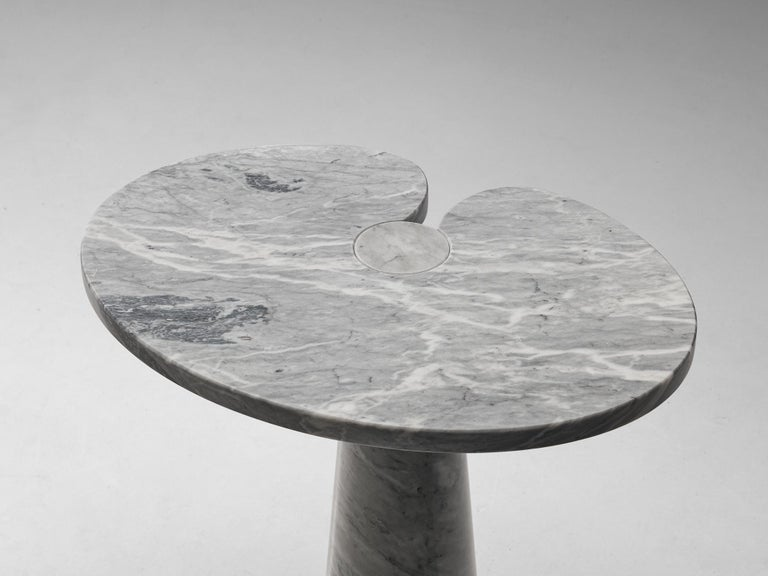 Late 20th Century Angelo Mangiarotti 'Eros' Side Table in Carrara Marble For Sale