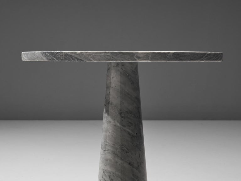 Angelo Mangiarotti 'Eros' Side Table in Carrara Marble For Sale 1