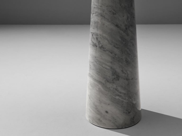 Angelo Mangiarotti 'Eros' Side Table in Carrara Marble For Sale 2