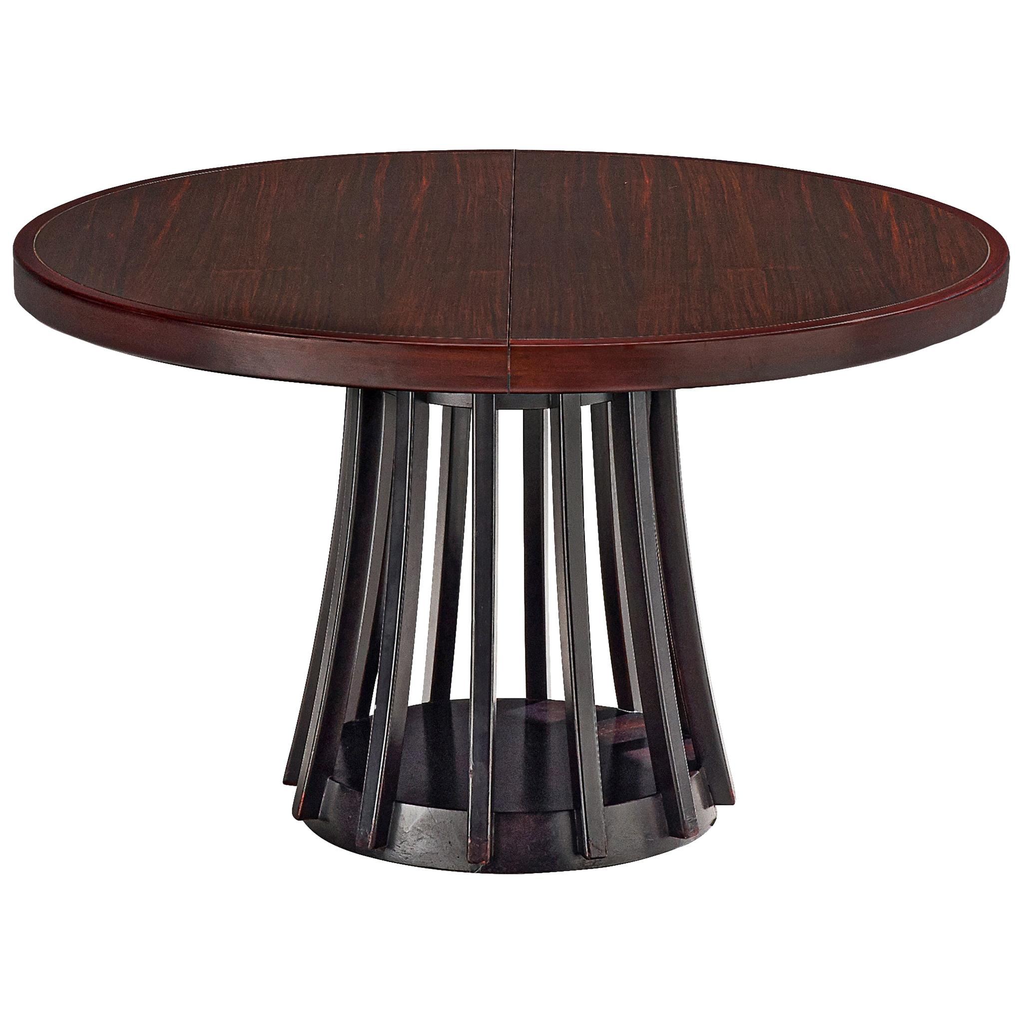 Angelo Mangiarotti Extendable Table in Mahogany