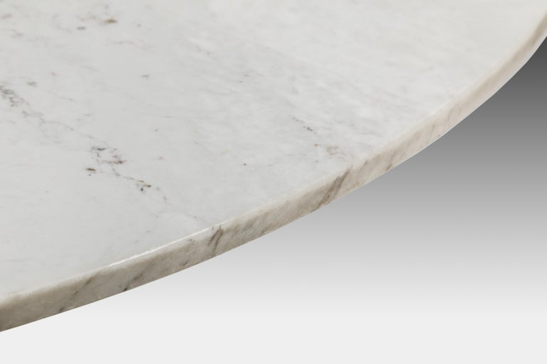Angelo Mangiarotti for Bernini Carrara Marble and Bronze Dining / Center Table For Sale 3