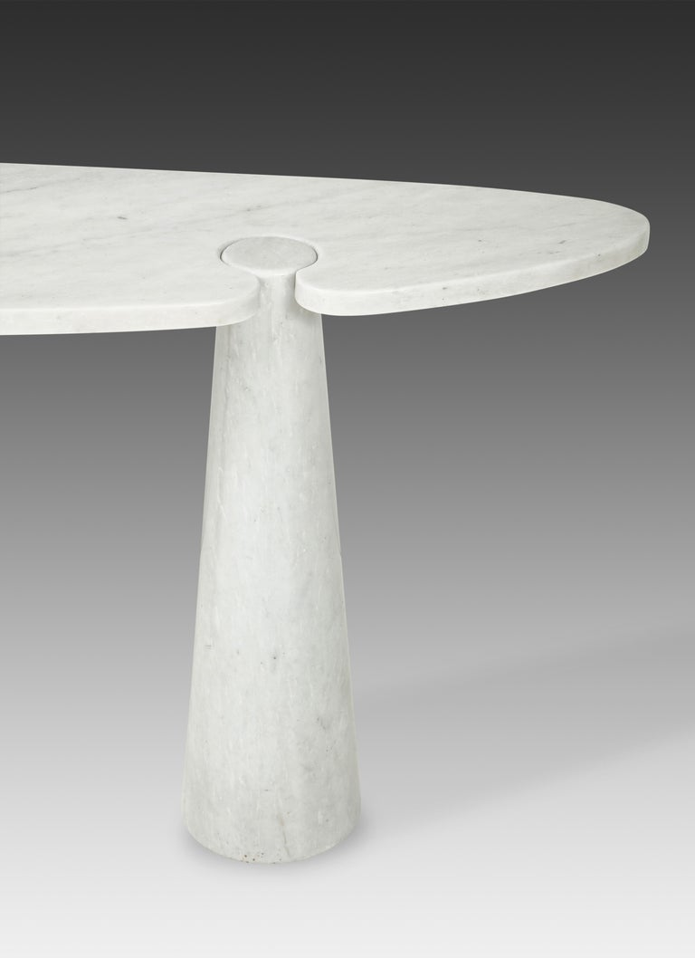Polished Angelo Mangiarotti for Skipper Carrara Marble Console For Sale