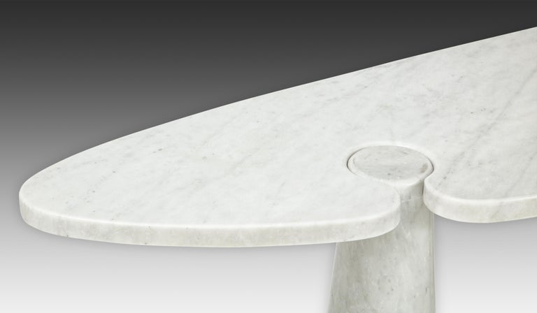 Late 20th Century Angelo Mangiarotti for Skipper Carrara Marble Console For Sale