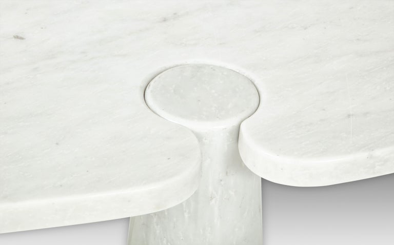 Angelo Mangiarotti for Skipper Carrara Marble Console For Sale 1