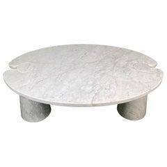 Angelo Mangiarotti for Skipper Carrara Side Coffee Table