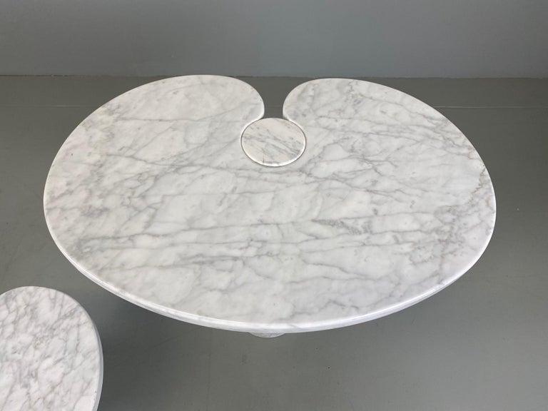 Angelo Mangiarotti for Skipper Carrara Side Table For Sale 10