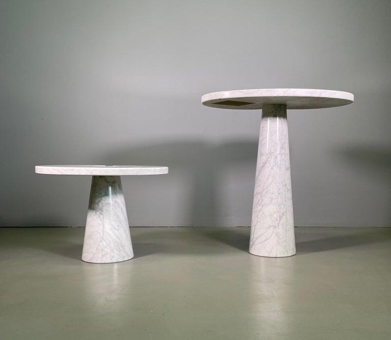 Mid-Century Modern Angelo Mangiarotti for Skipper Carrara Side Table For Sale