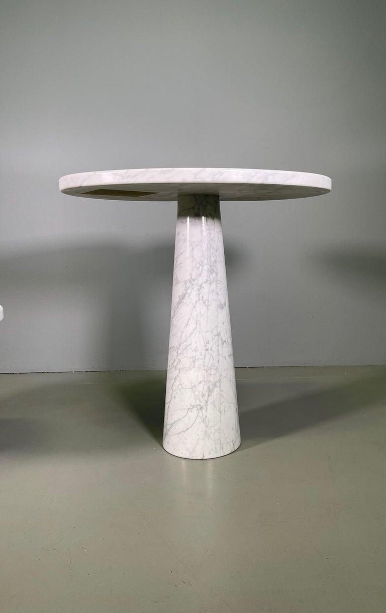 Italian Angelo Mangiarotti for Skipper Carrara Side Table For Sale