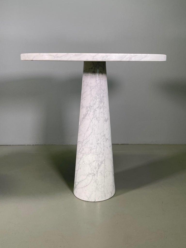 Angelo Mangiarotti for Skipper Carrara Side Table In Excellent Condition For Sale In Rovereta, SM