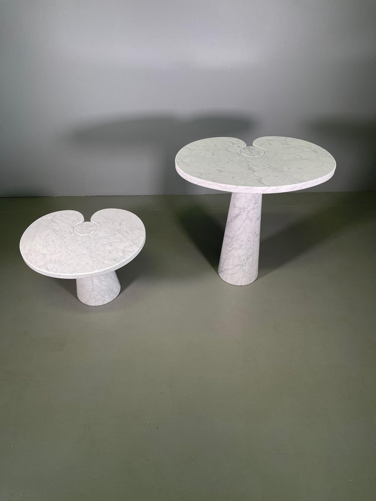 Marble Angelo Mangiarotti for Skipper Carrara Side Table For Sale