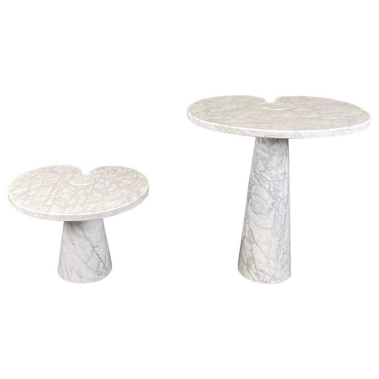 Angelo Mangiarotti for Skipper Carrara Side Table For Sale