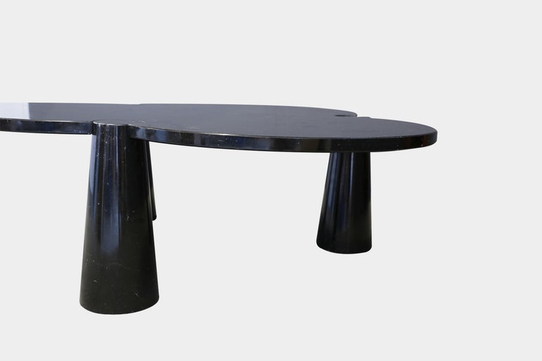 Italian Angelo Mangiarotti Rare Black Marquina Marble Coffee Table