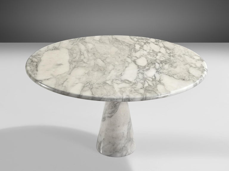 Italian Angelo Mangiarotti for Skipper Round 'M1' Dining Table in Marble For Sale