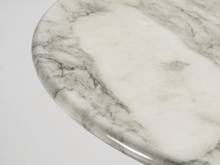 Late 20th Century Angelo Mangiarotti for Skipper Round 'M1' Dining Table in Marble For Sale
