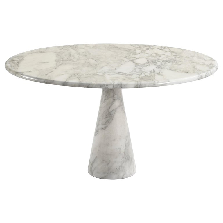 Angelo Mangiarotti for Skipper Round 'M1' Dining Table in Marble For Sale