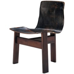 Angelo Mangiarotti for Skipper 'Tre 3' Chair in Leather