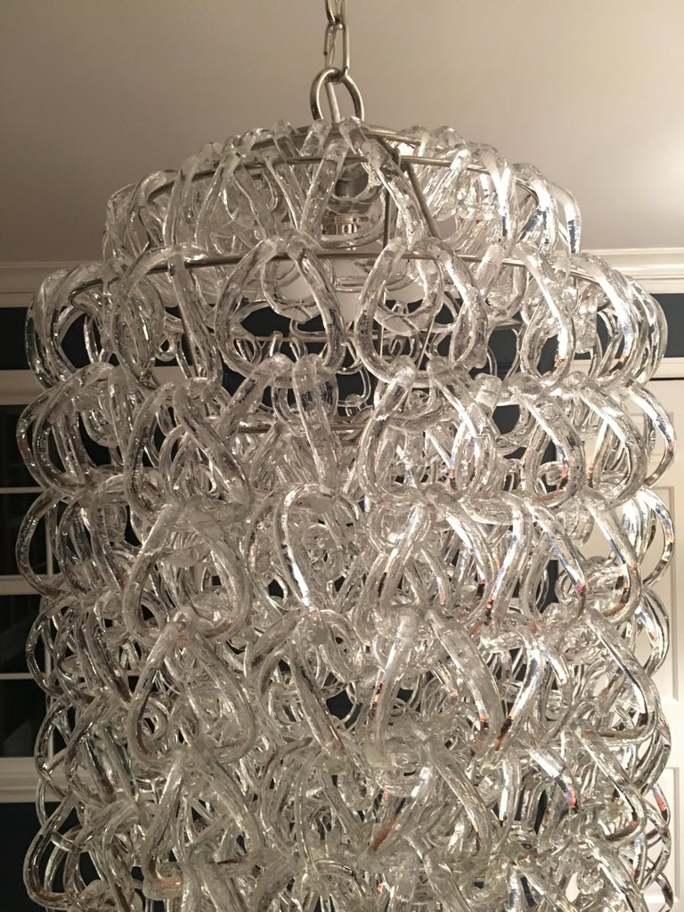 Angelo Mangiarotti for Vistosi Large 'Giogali' Chandelier In Good Condition For Sale In Chappaqua, NY