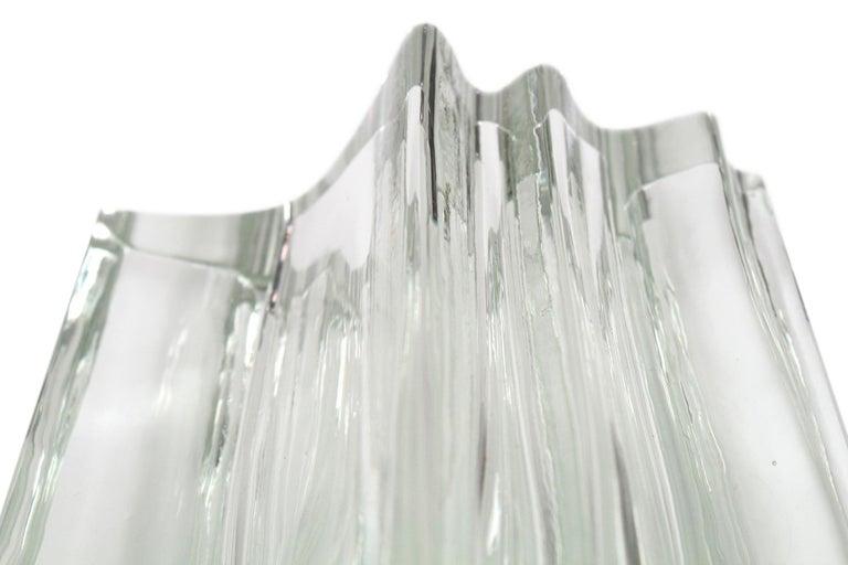 Angelo Mangiarotti Glass Vase for Vistosi For Sale 4