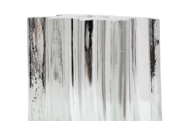 Angelo Mangiarotti Glass Vase for Vistosi For Sale 2