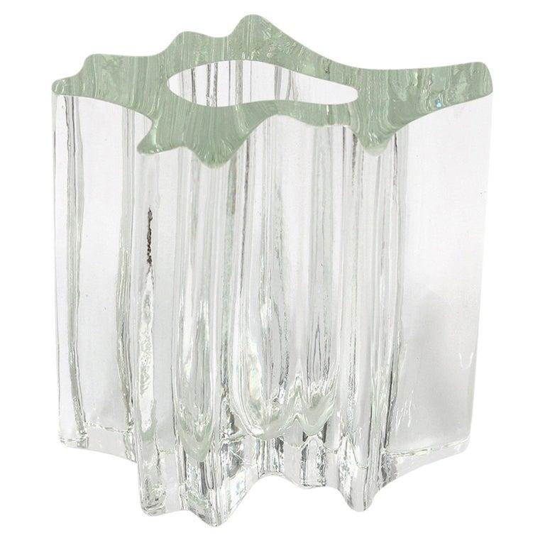 Angelo Mangiarotti Glass Vase for Vistosi For Sale