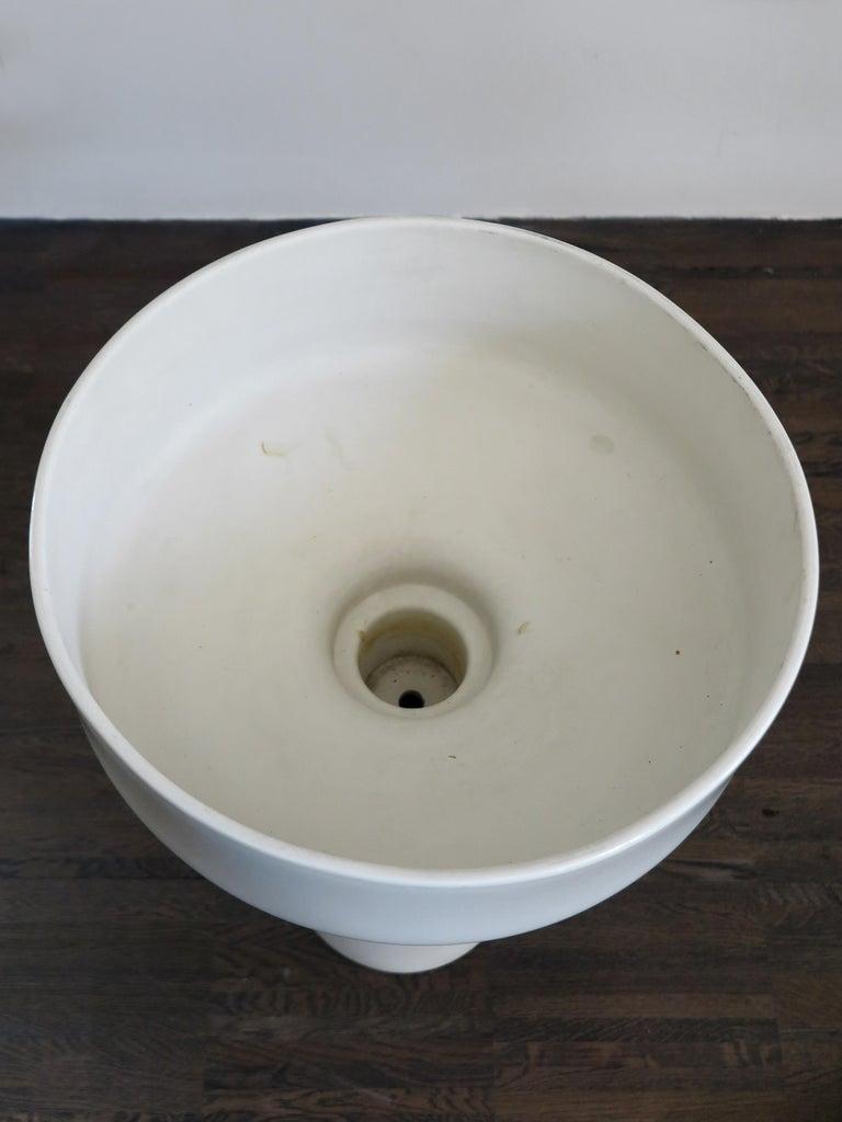 Mid-Century Modern Angelo Mangiarotti Italian Ceramic Standing Planter for Fratelli Brambilla, 1968 For Sale