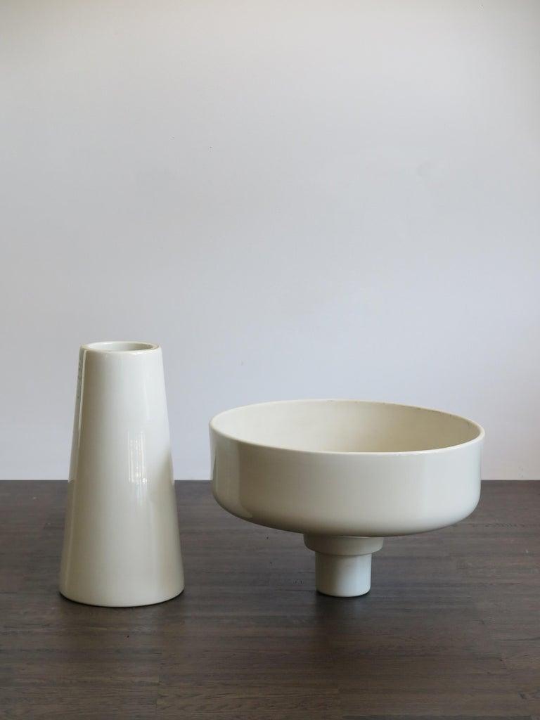 Angelo Mangiarotti Italian Ceramic Standing Planter for Fratelli Brambilla, 1968 For Sale 1