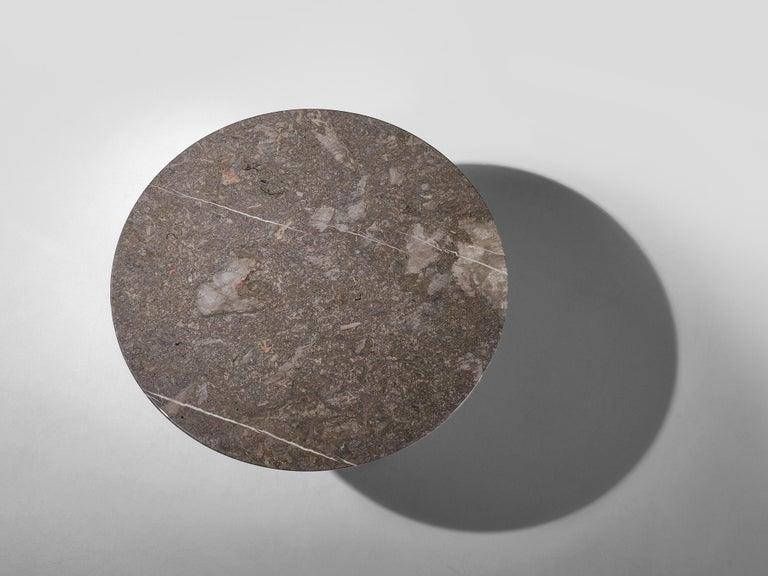 Angelo Mangiarotti Italian Dark Grey Marble Dining Table For Sale 1